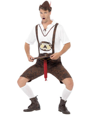 Strój bawarski z Oktoberfestu z niespodzianką