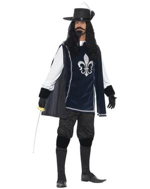Costume da moschettiere coreggioso per uomo