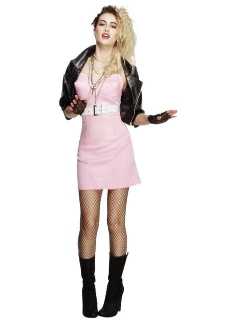 Costume da diva del rock degli anni 80 osé da donna
