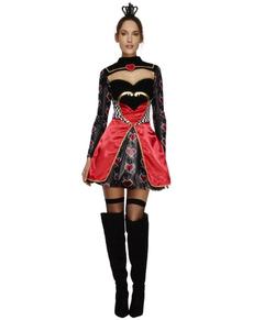 Costum Regina de Inimă Roșie fever pentru femeie