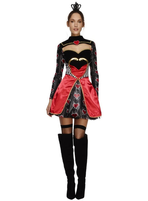Womens Queen of Hearts Fever Costume