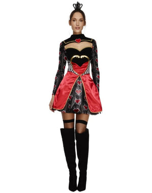 Fever hjerter dronnning kostume til kvinder