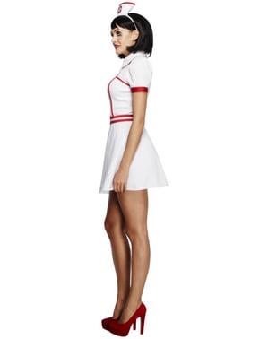 Retro sygeplejerskekostume til kvinder