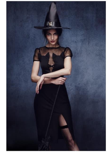 Disfraz de bruja gatuna fever para mujer - traje