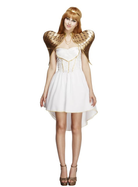 Disfraz de ángel dorado para mujer - mujer