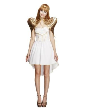Costum de înger auriu pentru femeie