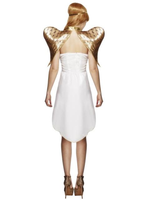 Disfraz de ángel dorado para mujer - original