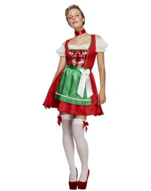 Kostum Bavarian Natal untuk Wanita