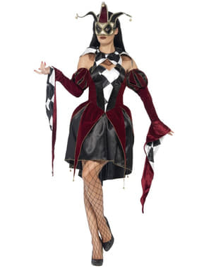 Costum de arlechin venețian pentru femeie