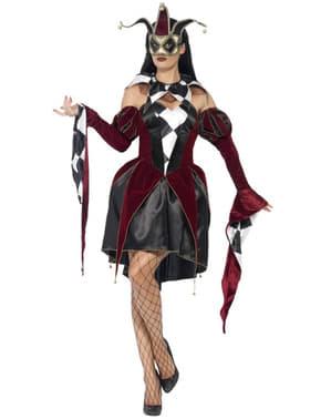 Harlekin Kostüm venezianisch gotisch für Damen