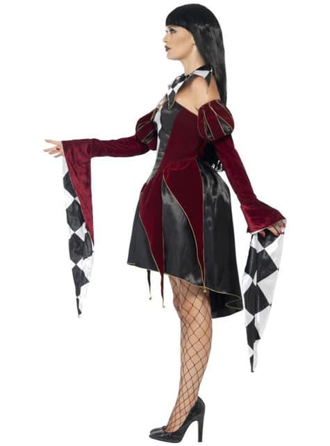 Venetiaans kostuum harlekijn gothic voor vrouw