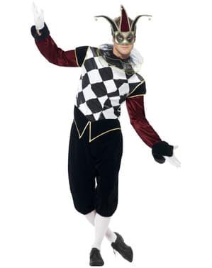 Venetian Fantasma New Carnival Face Dark Man Venice Mask Fancy Dress Accessory