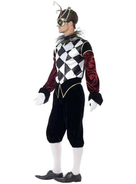 Venetiaans harlekijn kostuum