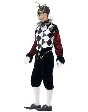 Venetiansk Harlekin Kostyme