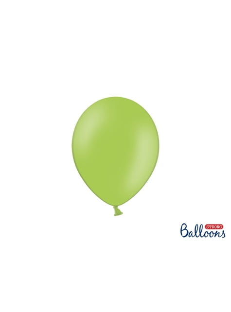 100 globos extra resistentes verde lima pastel (23 cm)