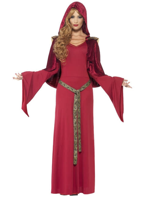 Disfraz de sacerdotisa medieval para mujer