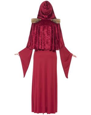 Fato de sacerdotisa medieval para mulher