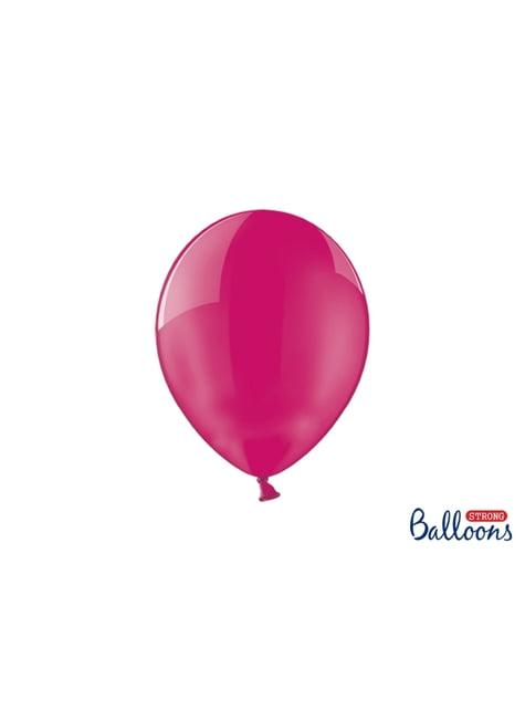 100 palloncini extra resistenti rosa effetto vetro (27 cm)