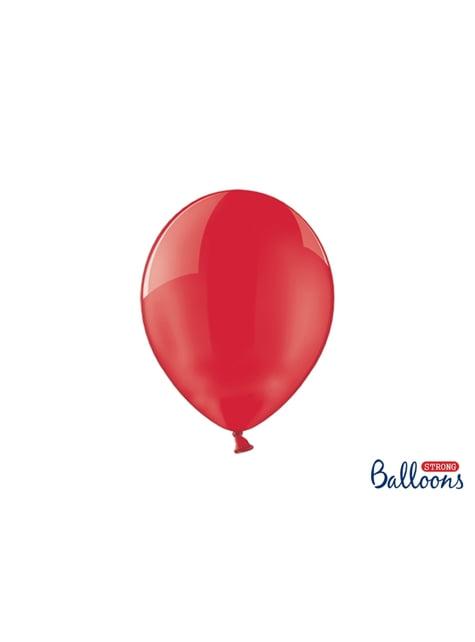 100 Luftballons extra stark korallenrot durchsichtig (27 cm)