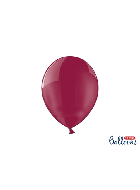100 extra silných balonků průhledně kaštanových (27 cm)