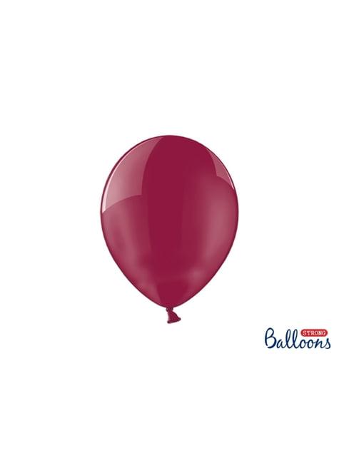 100 palloncini extra resistenti granata effetto vetro(27 cm)