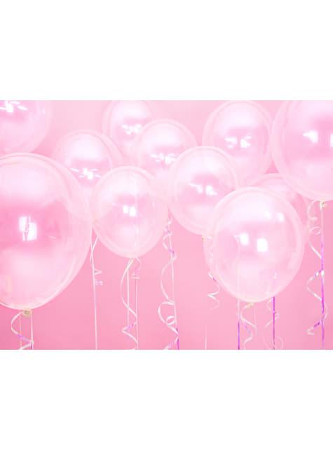 100 globos extra resistentes transparente (23 cm)