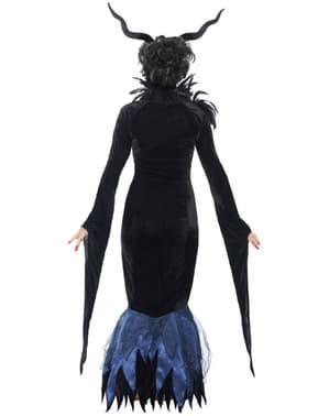 Disfraz de Señora Cuervo oscuro deluxe para mujer