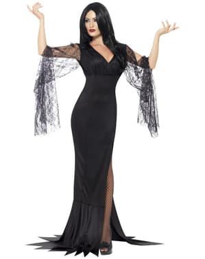 Costum Morticia înfiorătoare pentru femeie
