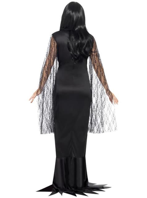 Disfraz de Morticia aterradora para mujer - mujer