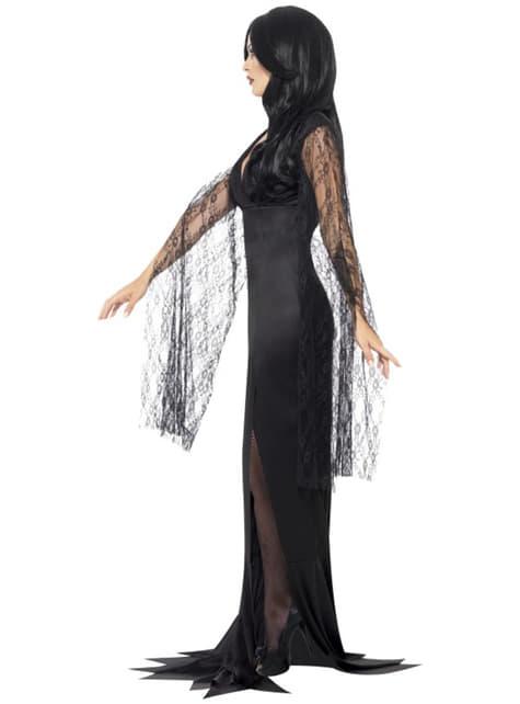 Disfraz de Morticia aterradora para mujer - original