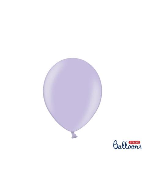 10 extra sterke ballonnen in metallic paars (27 cm)