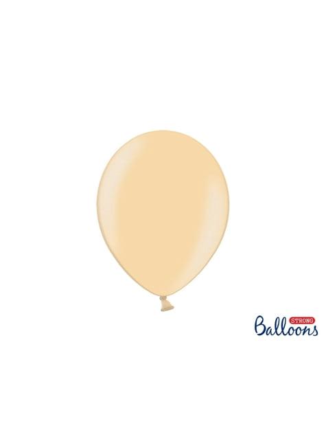 100 balões extra resistentes laranja metalizado (27cm)