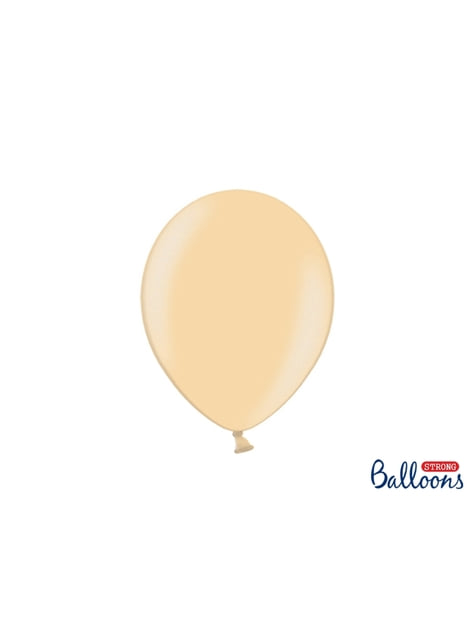100 extra silných balonků metalicky oranžových (27 cm)