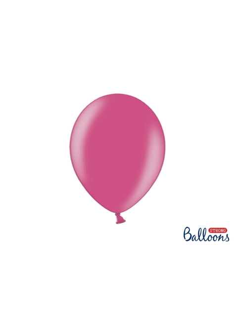 100 globos extra resistentes rosa metalizado (27 cm)