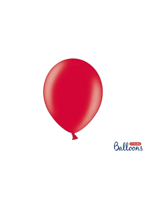 10 sterke ballonnen in Metallic Koraal, 27 cm