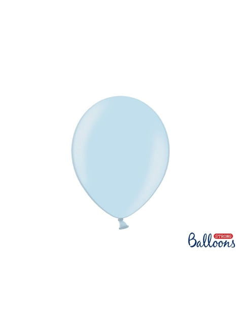 10 metal extra sterke ballonnen (27cm) in pastelblauw