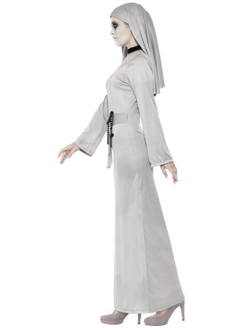 Fato de freira gótica sexy para mulher