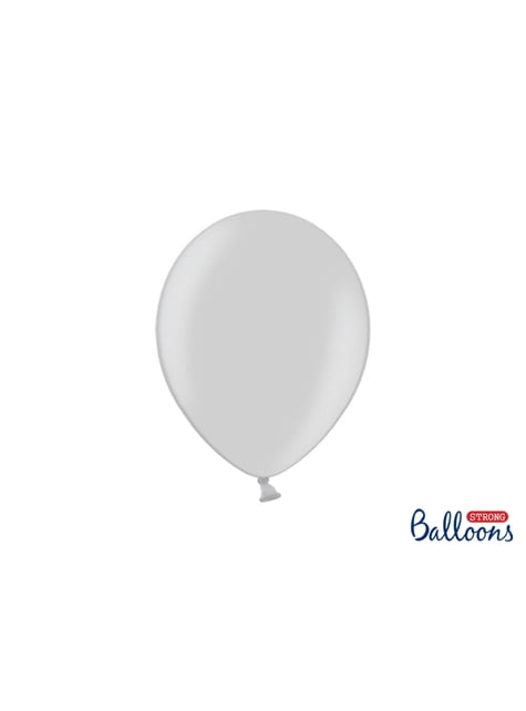 100 balões extra resistentes cinzento brilhante (27cm)