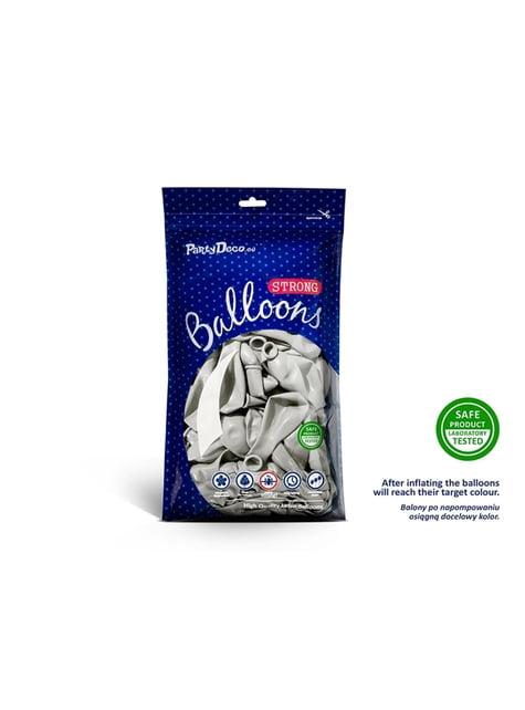 100 extra silných balonků leskle šedých (27 cm)
