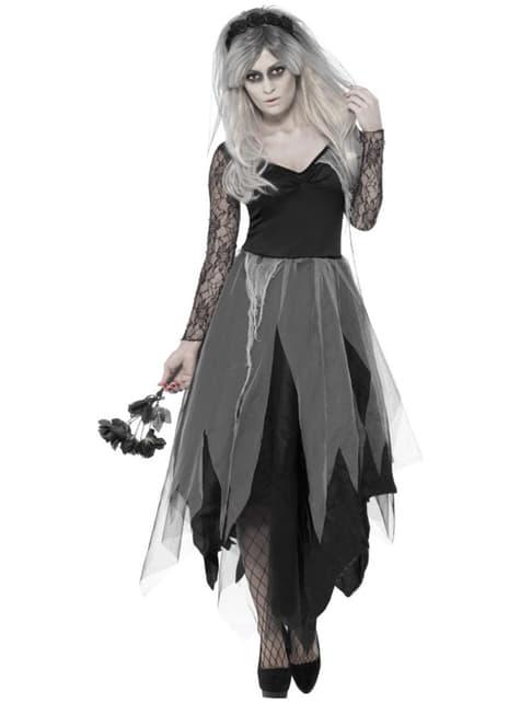 Dead bride costume for women