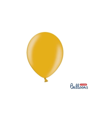 Metalik altından 10 ekstra güçlü balon (27cm)