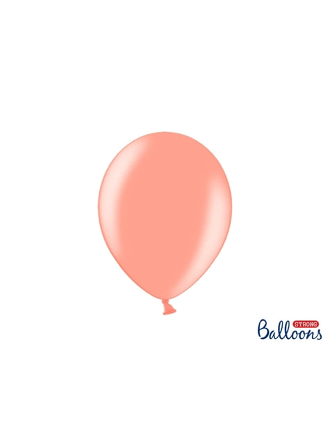 100 balões extra resistentes rosa dourado (27cm)