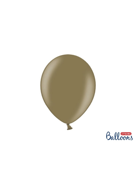 50 globos extra resistentes marrón claro metalizado (23 cm)