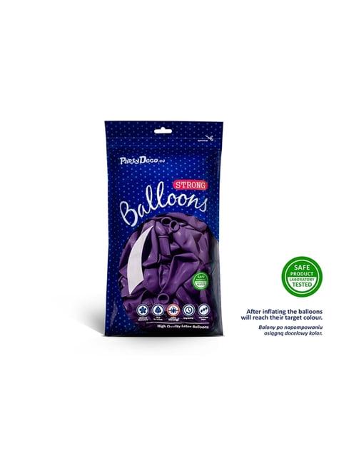 10 ballons extra résistants violet clair métallisé (27 cm)