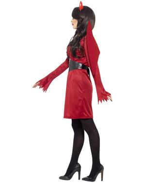 Hunndjevel Klassisk Kostyme til Damer
