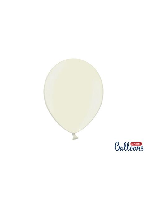 100 globos extra resistentes beige metalizado (27 cm)