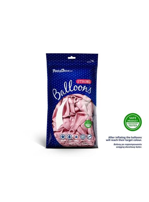 100 balões extra resistentes cor-de-rosa pastel metalizado (27cm)
