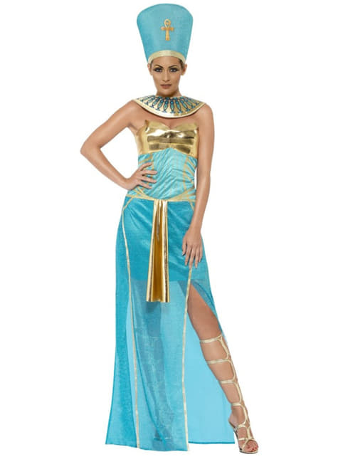 Disfraz de diosa Nefertiti egipcia para mujer