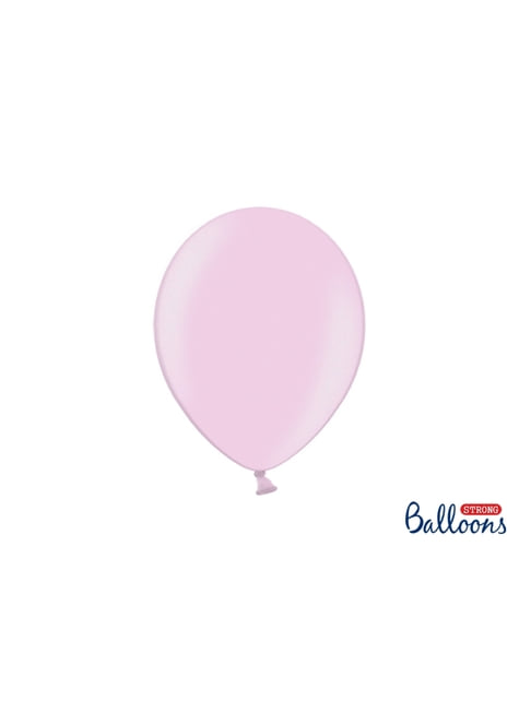 10 ballons extra résistants rose pastel métallisé (27 cm)