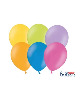 Metalik muhtelif pastel renklerde 10 ekstra güçlü balon (27cm)